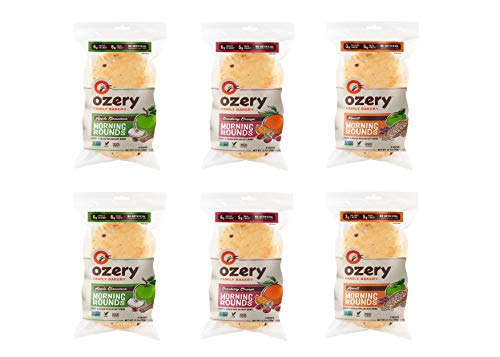 Ozery Bakery Morning Rounds Variety Pack 2 of Each Flavor, 12.7 Ounce (Pack of 6)