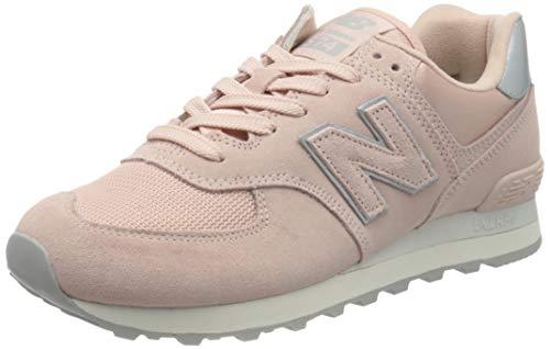 New Balance Damen 574 Sateen Tab Sneaker, Pink (Pink Ps), 38 EU