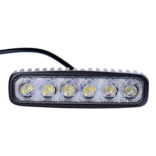 WZTO LED Arbeitsscheinwerfer, 18W LED Zusatzscheinwerfer 12V 24V Auto Scheinwerfer 6000K IP67 Wasserdicht für SUV, Truck, Traktor oder schweres Gerät