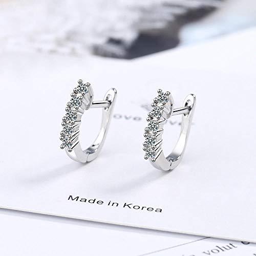 Pendientes Mujer Pendientes De Botón De Plata De Ley 925 Pendientes De Cristal Joyería De Plata De Moda para Mujer