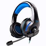 Cuffie Gaming per PS4 PC PS5 Xbox One, Cuffie da Gioco con Microfono Pieghevole Cancellazi...