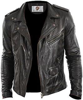 Stylo Lambskin Leather Biker Jacket for Men
