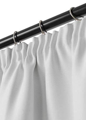 Rollmayer Vorhang mit Bleistift MELO (C4 Weiß, 140x240 BxH). Blickdicht Gardinen für Schlafzimmer, Kinderzimmer, Wohnzimmer