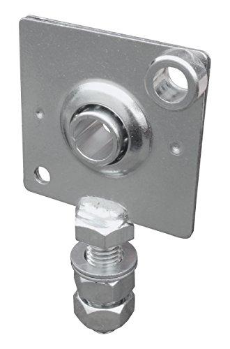 Schellenberg 10243 Cuscinetto di Supporto Registrabile Puleggia per Tapparelle, Grigio, 10 mm