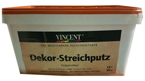 Vincent Dekor Streichputz Feinstruktur Weiß 10 liter