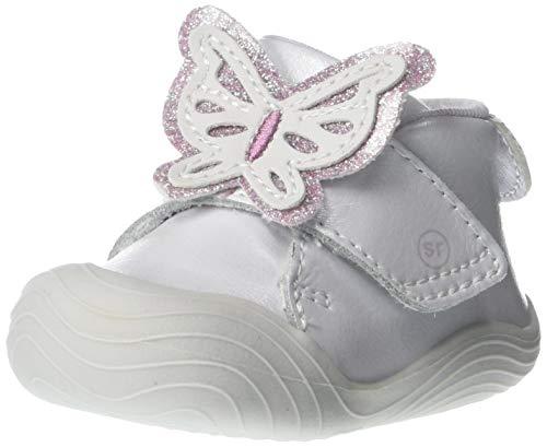 Stride Rite girls Campbell Bufferfly First Walker Shoe, Silver, 2 Infant US