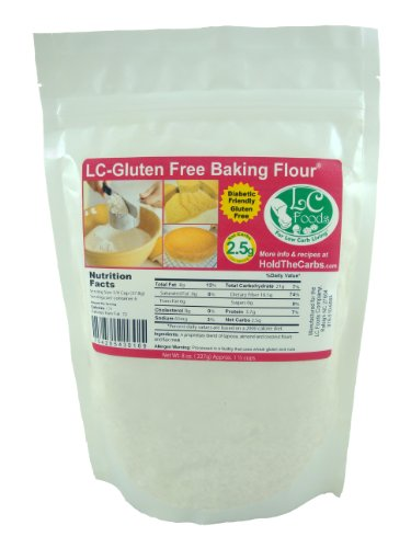 Low Carb Gluten Free Baking Flour (2 LBS) - LC Foods - All Natural - Paleo - No Sugar - Diabetic Friendly