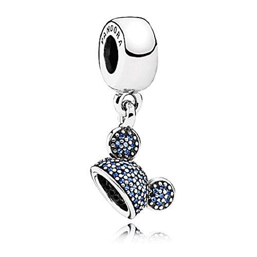 Pandora Disney Mickey blau Ohr Hat Sparkling Exklusive Parks Collection 60. Jahrestag