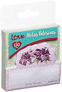 Bloco de Notas Adesivas Love Flowers 130 Folhas