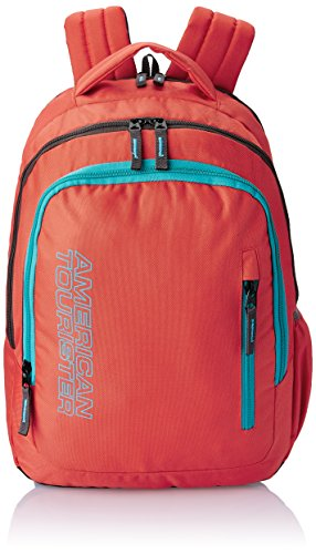 American Tourister 25 Ltrs Red-Yellow Casual Backpack (AT_CPB-ALLER02)