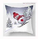 LIUJJ Christmas Snowman Pillowcase Christmas Decor For Home Merry Christmas Ornament Xmas Gifts Navidad Happy New Year 2021,9