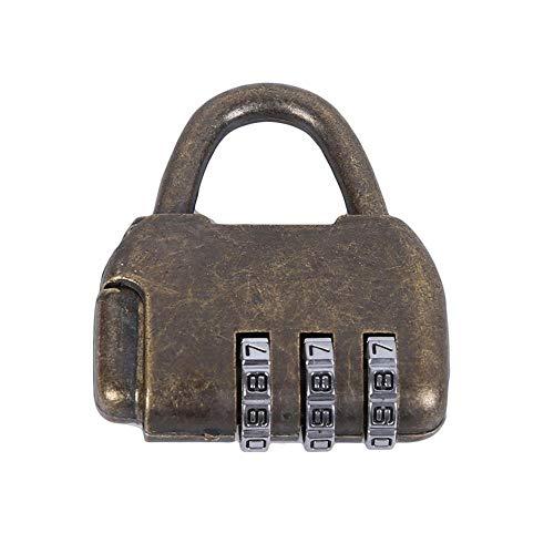 De Candado Candados Mini Dial Dígito Número Código Aleación Zine Contraseña Cerraduras Vintage Estilo Chino Antiguo Joyería Caja De Cofre Código Contraseña Candado