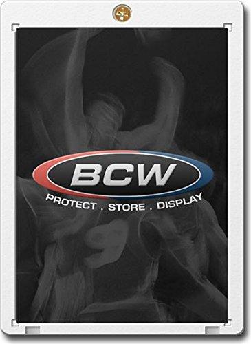 BCW 1 Screw Card Holder - 20 Pt. (Box of 50) - Screwdown - Baseball, Football, Basketball, Hockey, Golf, Single Sports Cards Top Load - Sportcards Card Collecting Supplies