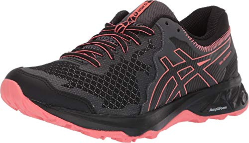 ASICS Women's Gel-Sonoma 4 Running Shoes, 8M, Black/Papaya
