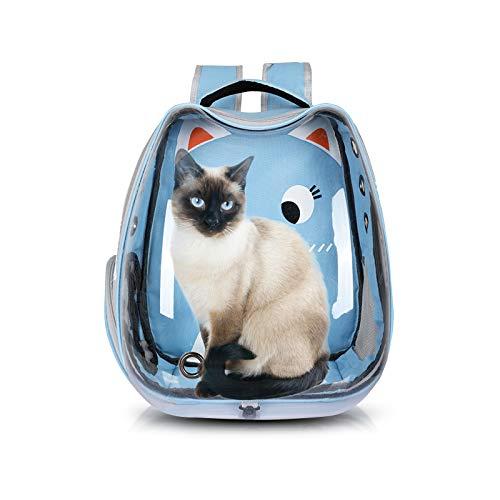 PETCUTE Mochila Perro Pequeños Bolsa para Transportar Gatos Transpirable Mochila Cápsula para Mascotas Viajes Senderismo Camping