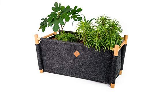 EQUA Home zandbak zwart tuinpan, handgemaakt, zwart, 68 cm x 35 cm x 32 cm