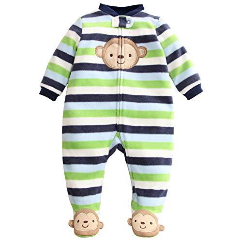 Baby Overall Vlies Strampler Niedlich Pyjama Frühling/Herbst/Winter Onesies Body 9-12 Monate
