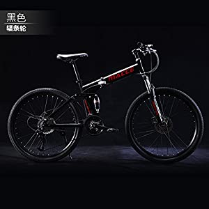 HIKING BK 21 Speed Folding Mountain Bike Bicycle 24-inch Male and Female Students Shift Double Shock Absorber Adult Commuter Foldable Bike Dual Disc Brakes