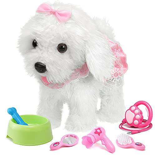 OR OR TU Control Remoto Felpa Electrónica Juguete Perro Mascota para Niñas Caminando y...