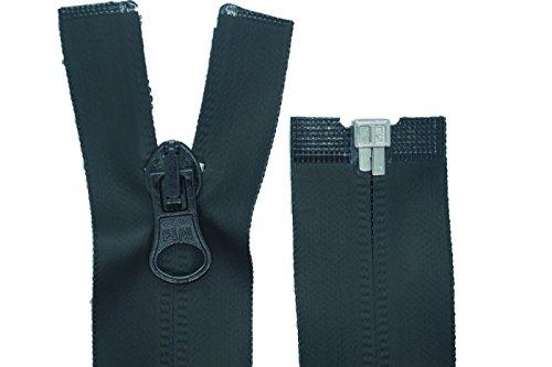 zipworld Reißverschluss PW Wasserdicht TPU Outdoor Reißverschlüsse Kunststoff teilbar (schwarz - matt, 75cm)