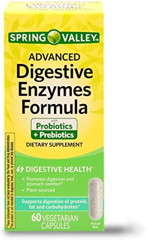 Spring Valley Advanced Digestive Enzymes Probiotic Prebiotics 60 Vegetarian Capsules product image