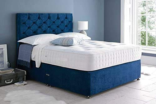 Velvet Bed Set, The Organic Memory Pocket mattresses, headboards and Two Drawers,Single