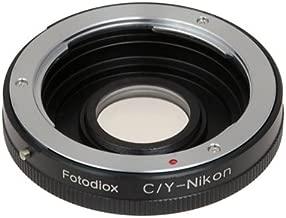 Fotodiox Lens Mount Adapter - Contax/Yashica (C/Y CY) SLR Lens to Nikon Nikkor F Mount Digital Cameras