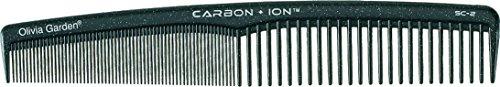 Olivia Garden Carbon + Ion Haarschneidekamm, mit abgerundeten Kammzähnen