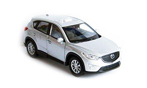 Welly Mazda CX-5 Metall Modellauto Auto Modell Spielzeugauto 4-Farben 64 (Silber-Metallic)