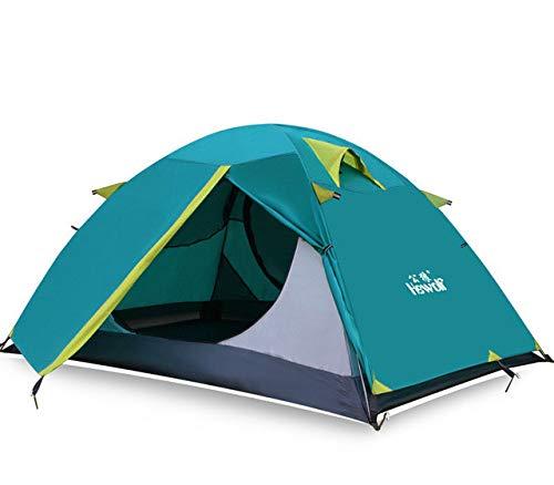 Mdsfe Hewolf Outdoor Ultralight Camping 2 People Aluminum TentDouble Layer Waterproof Camping Tent Carpas De Camping-Cyan,A2