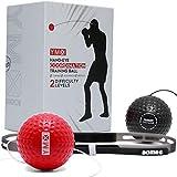 YMX BOXING Reflex Ball - Accessoire de Sport d'entrainement de Réflexe, Coordination et Vitesse pour la Boxe - Bandeau et Elastique avec Balles en Mousse - Equipement pour Exercice de Punching