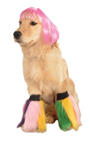 Rubie's Wig for Pets, Medium to Large, Hot Pink Short Bob - http://coolthings.us