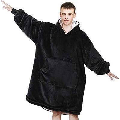 REEPOW Wearable Hoodie Blanket Sweatshirt for Adults and Kids - Oversized Hooded, Large Pocket, Elastic Cuff, Reversible