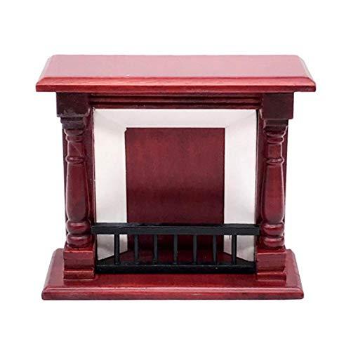 Eamoney 1:12 Miniature:Fireplace Mini Dollhouses Accessory DIY Dollhouse Dcor Toy House Model Kids Toy