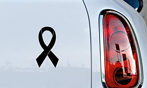 Ribbon Version 2 Car Vinyl Sticker Decal Bumper Sticker for Auto Cars Trucks Windshield Custom Walls Windows Ipad MacBook Laptop Home and More (Black)