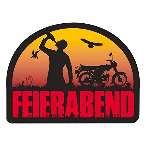 Aufkleber 2Takt Motorrad Moped Feierabend (Wetterfest)