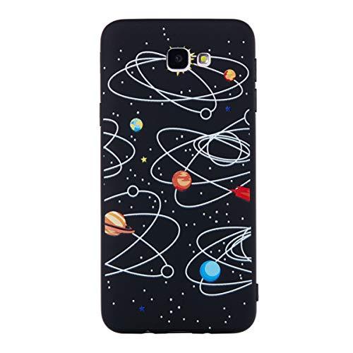 Mipcase Estuche para teléfono Samsung J7 Prime, Suave Exquisito Pintado en Relieve Resistente a Los Rasguños Textura Mate Cubierta Completa de Teléfono de TPU para Samsung J7 Prime