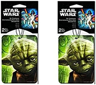 Star Wars Yoda 2 Packs Car Hanging Paper Air Freshener x 2 (each pack 2pc , total of 4 pcs)