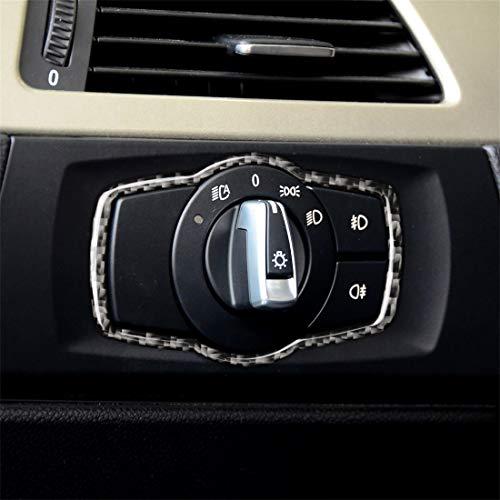 Etiqueta decorativa del interruptor de los faros del coche de fibra de carbono for BMW E90 / E92 / E93 2005-2012 / 320i / 325i, versión delgada Alta calidad