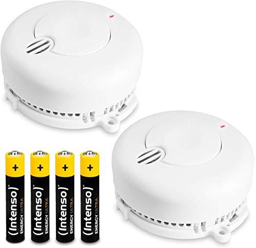 2x Kidde FireX Rauchmelder 29BHLD-FR mit 5 Jahresbatterie (austauschbar). Fotoelektronischer Rauchwarnmelder nach DIN EN 14604 inklusive Batterie