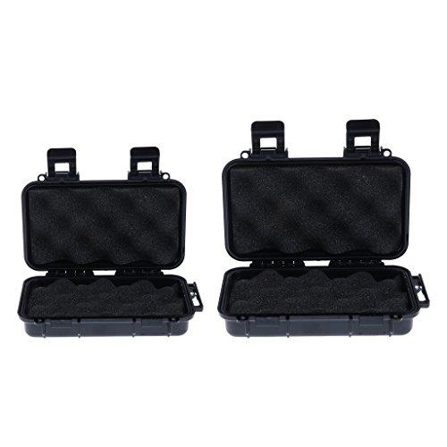 Sharplace 2pcs Petite Et Grande Boîte Imperméable Antichoc Extérieure Pour Transporter Objets De Valeur, Correspond, Gadget Électronique