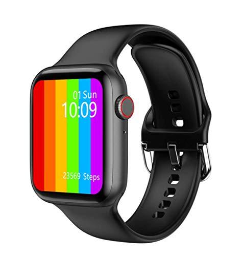 IWO PRO/IWO 13 Series 6 - Reloj inteligente deportivo, pantalla grande de 1,75 pulgadas, Bluetooth, llamada, música, medición de temperatura, Negro-w26+