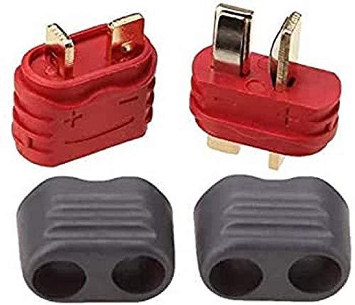 YUNIQUE ESPANA 5 Pares T-Plug, Macho-Hembra con Funda de protección, Conectores para baterías de modelismo RC Lipo, P3-APR5-UFEU