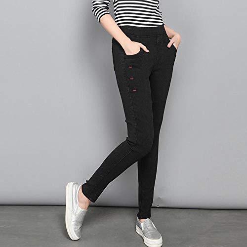 AKDYH Lunch Box Plus Size Imitation Jeans Broek Vrouwen Elastische Taille Hoge Stretch Leggings Broek Skinny Pencil Broek Vrouw