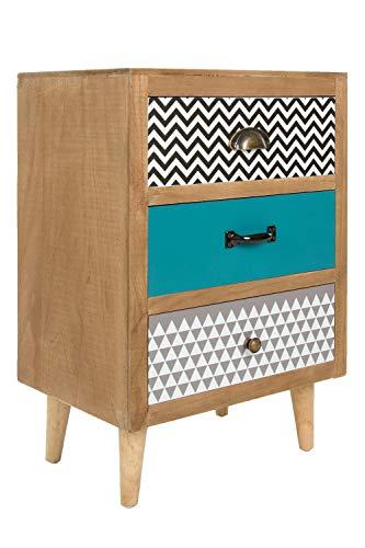 elbmöbel commode retro kast bruin hout telefoontafel hipster pop art houten commode