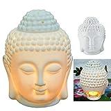 CFF Cabeza Buda Quemador Aceites Esenciales Buda Tailandés Quemador Aceite Adorno de...