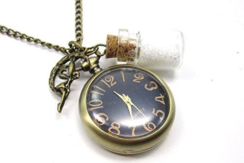 schmuck-stadt Feen Puder Kettenuhr Uhrenkette bronzefarben Elfe Fee Magie