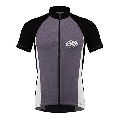 Trikot Radtrikot Fahrradtrikot Fahrrad Radler-Trikot Shirt, Größe:M;Farbe:Grau