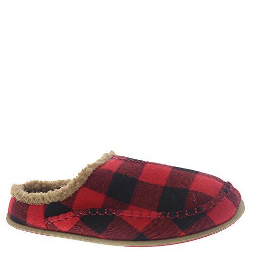 Deer Stags Men's Slipper, RED/BLACK, 11