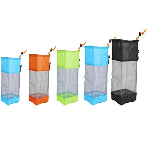Waskledingtas - draagbaar opvouwbare waskleding wasmand zak mesh net drawstring tas